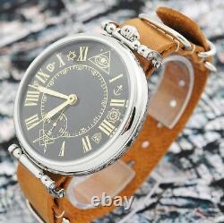 Vintage Rare Large Molniya Montre-bracelet Russe Masonique Mason Urss Squelette