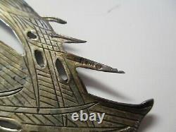 Vintage Sterling Silver Large Angel Collier Pendentif Ornement Iconique 925 3