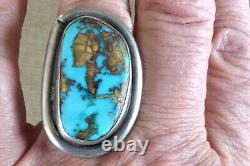 Vintage Sterling Silver Navajo Native American Large 1 5/8 Bague Homme Sz 9,75