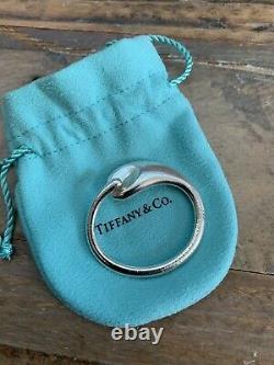 Vintage Tiffany & Co Silver Grand Cercle Éternel Elsa Peretti Porte-clés
