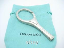 Vintage Tiffany & Co. Sterling Silver Grande Raquette De Tennis Raquette Key Ring A