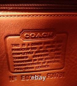 Vintage Tn-o Htf Coach Sac A Dos Fs9791 Couleur Rouge Cerise Cuir