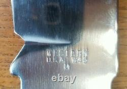 Vintage Western Large Bowie Knife W49 M Blank W Brass Guard Uniquement. Aucune Main-d'oeuvre