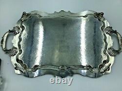 Vtg Birmingham Silver Company Argent Plateau Plateau De Service Grand 25 X 14
