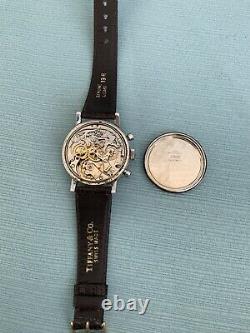 Zenith Chronographe Vintage Ref. A273 Avec L'original Usine Dial Grand 37mm
