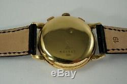 Zodiac 2 Enregistrer Chronographe Vintage Nice Grand 37 MM Valjoux 22 C. 1950